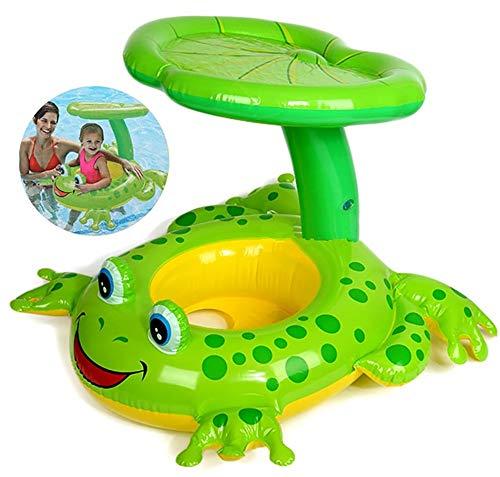 QYHSS Babyschwimmring, Aufblasbarer Poolschwimmer, Sitz-Kleinkind-Schwimmtrainer Sitz mit, Infant Aid Trainer-Sitzring, verwendbar für Kinder 0-4 Jahre, pink, weiß