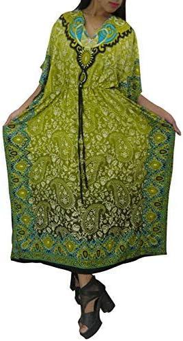 UKAL 1 Pieces Polyester Kaftan/Caftan Long Cover UP Beach Wear for Women (Light Blue)