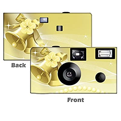 5 Gold Bells Wedding Disposable Cameras, Anniversary, Single use, Flash WM-50350-C by CustomCameraCollection