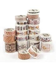 HAKACC Washi Tape, 20 rolek dekoracyjnej taśmy klejącej do majsterkowania, pamiętnika, scrapbookingu, kart, prezentu
