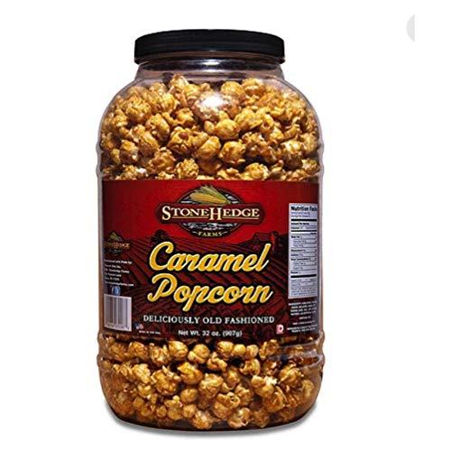 StoneHedge Farms Caramel Popcorn Deliciously Old Fashioned 32 Oz. Tall Tub Jar!!!!!!!!!