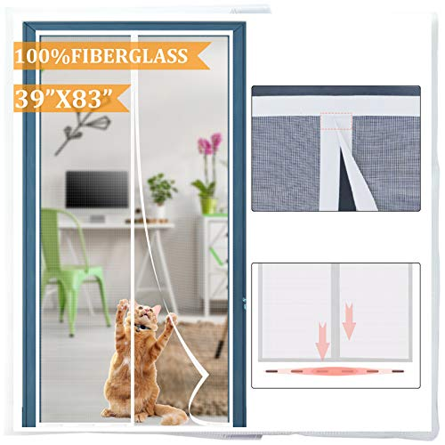 """Dysome Magnetic Screen Door 39""""x83"""" with Strongest Magnets Build-in"""