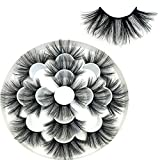 oceaneshop 7 Pairs 8D False Eyelashes,25mm mink lashes, Handmade, Fluffy, Thick, Long, Self-adhesive,Dramatic Eye Makeup Tools