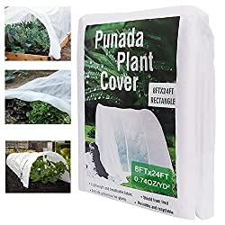 punada Premium Plant Covers Freeze Protection 8Ft x 24Ft Reusable Plant Covers for Winter Frost Freeze Protection Covers Anti-UV for Snow Animal 35ºF Frost Protection -0.74 oz/yd² (Frame not Include) - Frost Damage