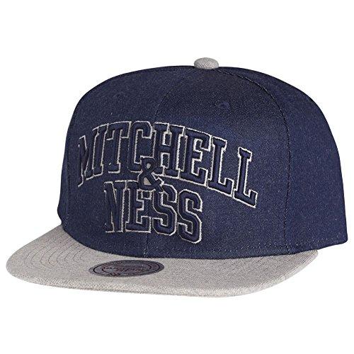 Mitchell & Ness Snapback Cap - BRAND DENIM navy / gris