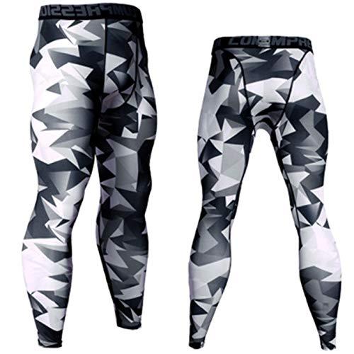 Leggings para correr para hombre, mallas de gimnasio frescas y secas para hombre, pantalones deportivos de compresión (sólo un pantalón deportivo)