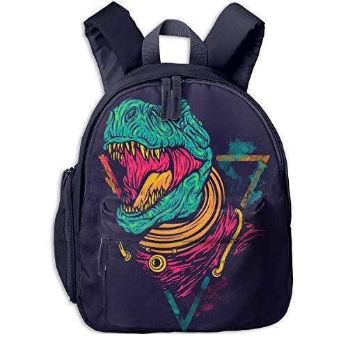 ADGBag Kinderrucksack Schultasche Displate Poster Space Rex Dinosaurs Children's/Kids School/Nursery/Picnic/Carry/Travelling Bag Backpack Daypack Bookbags