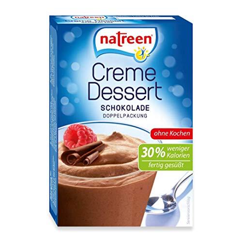 natreen Creme Dessert Schokolade ohne Kochen • 30% weniger Kalorien, 14 mal 2er Pack, (14 x 2 x 27g )