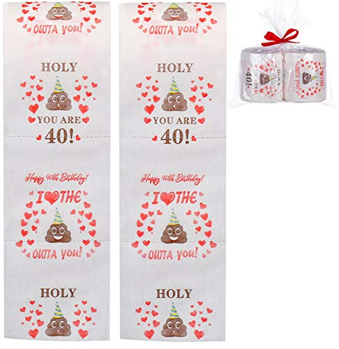 Ocosy 2Pack Happy Birthday Funny Joke Prank Gift Novelty Toilet Paper - Funny Gag Birthday Gift...