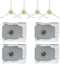 IOTdou Vacuum Cleaner Accessories 4Pc Side Brush& 4Pc Dirt Disposal Bags For Irobot Roomba I7 I7 I7 Plus E5 E6 E7 Grey
