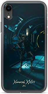iPhone XR Case Anti-Scratch Motion Picture Transparent Cases Cover Xenomorph Xx121 Alien Movies Video Film Crystal Clear