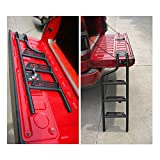 Universal Foldable Tailgate Ladder Accessories Aluminium Alloy Tailgate Step Ladder Kit Fit for Pickup Truck