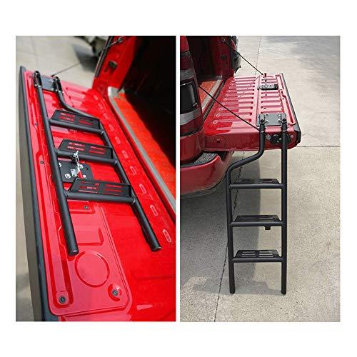 Pickup Truck Universal Foldable Tailgate Ladder Accessories Aluminium Alloy Tailgate Step Ladder Kit