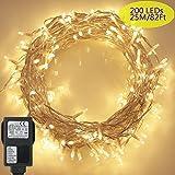 200 LED Lichterkette, Tomshine 23M Lange Lichterkette Steckdose für Innen und Außen,...