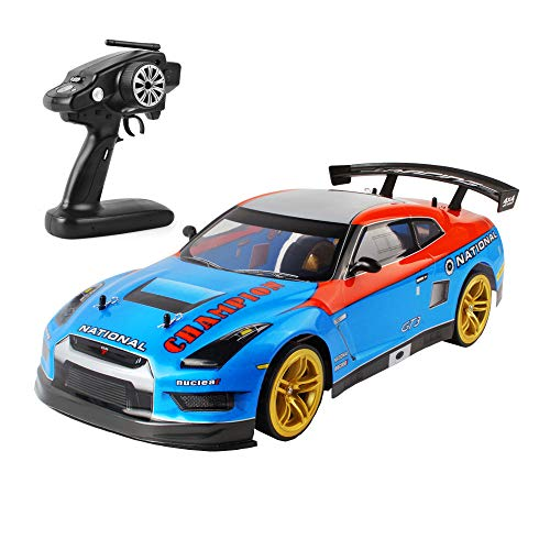 Ferngesteuertes Auto, 70 km/h High Speed 2,4 GHz 1/10 RC Auto, Elektrische RC Spielzeugautos Fahrzeug mit Zwei Batterien LED Scheinwerfer Rennwagen, Drift Rennwagen für Kinder und Erwachsene