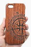 PhantomSky iPhone SE / 5S / 5 Funda de Madera, [Serie de Lujo] Natural Hecha a Mano de Bambú/Madera Carcasa Case Cover con Gratis Protector de Pantalla para tu Smartphone