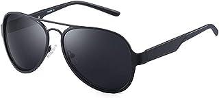 SGJFZD Fashionable Trendy Sunglasses Unisex Polarized Glasses Riding Retro Full Frame UV400 Sunglasses (Color : Black)
