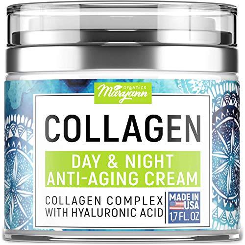 MARYANN Organics Collagen Cream - Anti Aging Face Moisturizer - Day & Night - Made in USA - Natural...