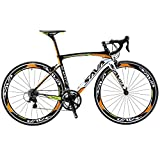 SAVA Road Bikes, Windwar5.0 Carbon Road Bike Racing Bike Carbon Fiber Frame 700C Road Bicycle with SHIMANO 105 22 Speed Groupset Ultra-light Bicycle (50cm/Orange)