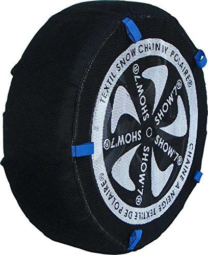 Chaussette neige textile pneu 195/55R20 excellente protection de la jante - Valise comprenant 2 chaines textile et 1 paire de gants