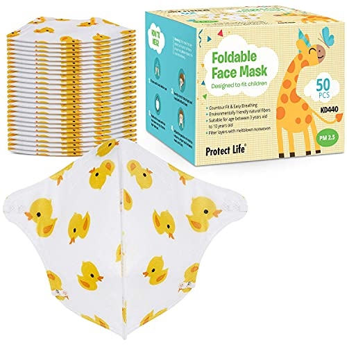 Kids Face Mask - 50 pack - Small Size Face Mask (3-10 years) - Children Dust Mask for School Crafts, DIY and more