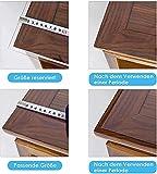Tischfolie Transparent, PVC Tischdecke, 160*90cm(L*B),2 mm dick, Tischschutz Transparent, Durchsichtige Tischdecke, pflegeleicht, ölbeständig, abwischbar, Kratzfest - 6