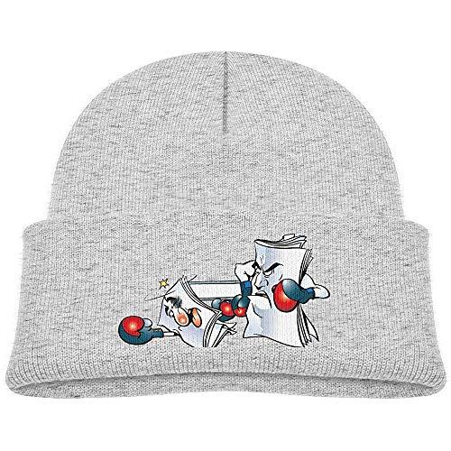 Tracray Kids Knitted Beanies Hat Papierboxen Wintermütze Knitted Skull Cap für Jungen Mädchen Schwarz