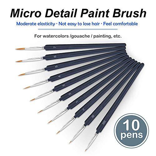 Madeki Pinceles para Pintura 10 Piezas Pinceles Acrilico Finos Juego de Pinceles para Pintar al Óleo