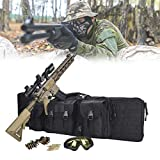Eortzzpc Bolsa Táctica para Rifle, Suave, Acolchada, con Cerradura, Bolsa para Caña De Pescar, Mochila para Pistola, Escopeta De Airsoft con Correa para El Hombro, 3 Bolsas, Nailon Impermeable