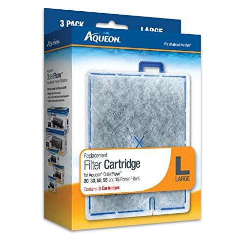 (2 Boxes) Aqueon 06087 Filter Cartridge, Large, 3-Pack each