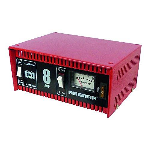 Absaar 77911 - Cargador de batería para coche y moto (8 A, 6/12 V)