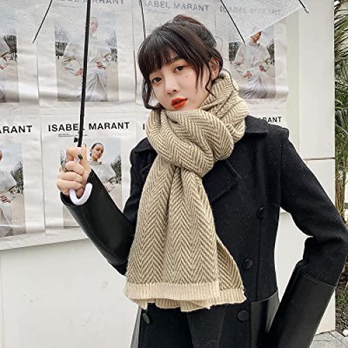 Sciarpe Sciarpa Scozzese Vintage da Donna di Alta qualità Inverno Caldo Lungo Avvolgere Casual Confortevole Morbido Selvaggio Femminile Scialle Spesso