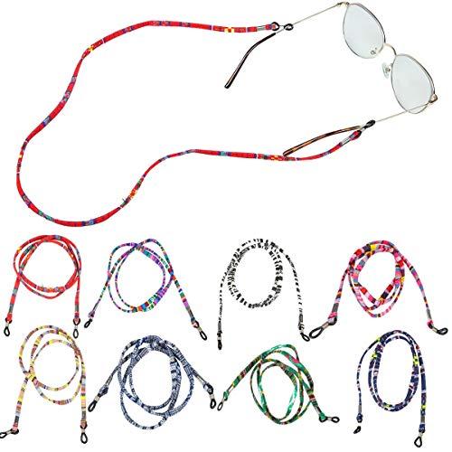 ZITFRI 8 Pcs Cordino per Occhiali Corda Catenina Laccetti per Occhiali da Vista Occhiali da Sole Occhiali da Lettura