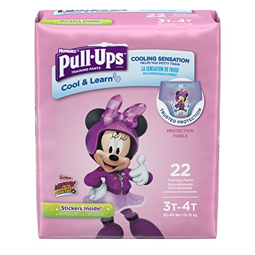 Pull-Ups Learning Designs Training Pants for Girls, Cool & Learn, Size 5 (22 Count)