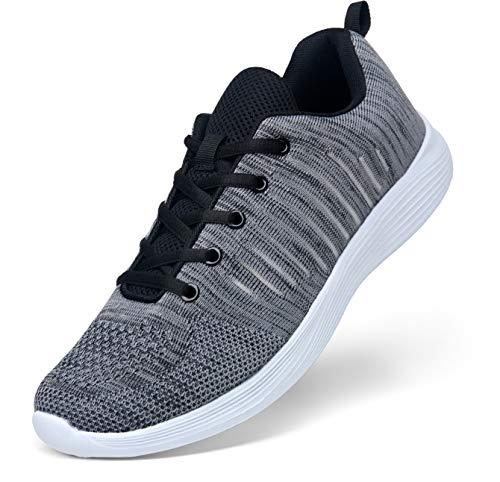 Tênis de corrida masculino leve respirável VOSTEY tênis de caminhada tênis masculino, Running Sneaker887a-grey, 10.5