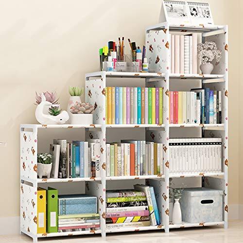 LXYStands Opslagruimte Stap Rack Boekenkasten, 9 kubus, DIY Boekenkasten Display Opslagruimte Divider, Open Organisator Kastje, voor Boeken, Speelgoed, Kleren, Gereedschap Witte Kasten