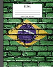 Brazil Composition Notebook: College Ruled 8