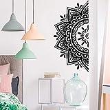 Extraíble Diy Mandala Flor Pegatinas de pared Decoración para sala de estar Wallstickers Decoración del dormitorio Vinyl Decal StickerGreenL 28cm X 57cm