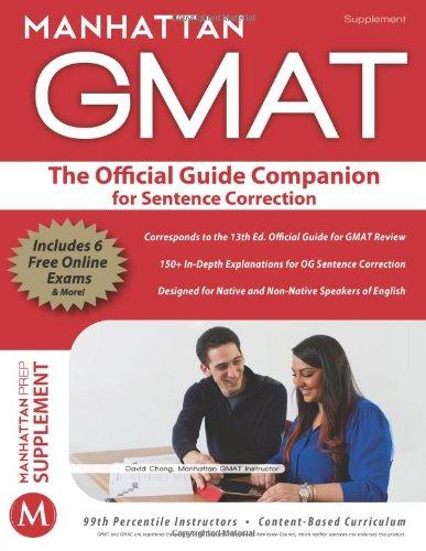 Official Guide Companion For Sentence Correction Manhattan Gmat