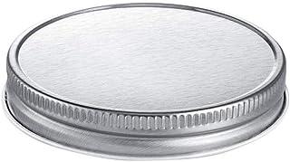 12 PCS Reusable Mason Jar Lids, Silver Jar Lids With Wide Mouth Regular Mouth Leak Proof Secure Mason Cup Lids Seal Rings ...