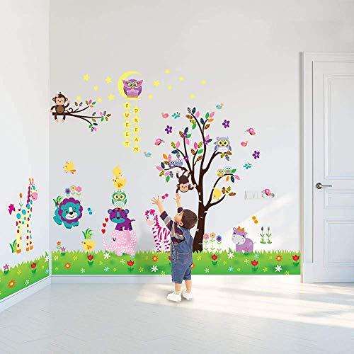 Walplus Adhesivos de pared Feliz Animales Búho Árbol Pegatinas pared vinilo decoración...