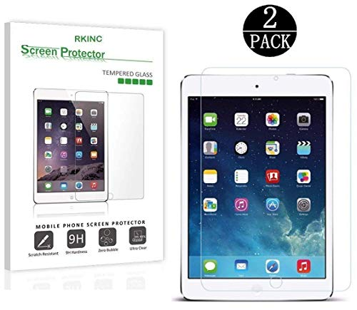 [2-Pack] For RKINC Tempered-Glass Screen Protector for iPad Mini / iPad Mini 2 / iPad Mini 3 with Retina display - Premium Crystal Clear (Not compatible with iPad Mini 4)