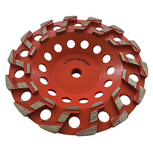 7' Aggressive Grinding Wheel #20/25 Diamond 5/8'-11 Arbor for Concrete and Paint, Epoxy, Mastic, Coating Removal
