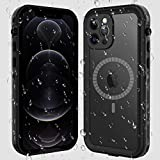 ShellBox iPhone 12 Pro Max Case, Waterproof Case with【Built in Screen Protector】Full Body Protective Heavy Duty Shockproof Dustproof 【IP68 Waterproof】 Case for iPhone 12 Pro Max 6.7 inch (Black/Clear)