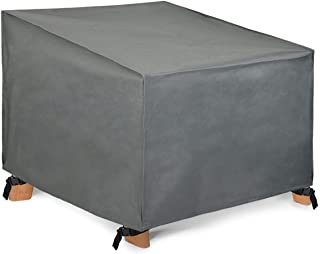 Patio Watcher Waterproof Patio Lounge Chair Cover, Grey Durable Outdoor Lawn Patio Furniture Covers, Small