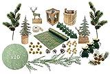 PA2I Kit Déco de Table Noël Golden Forest Luxe