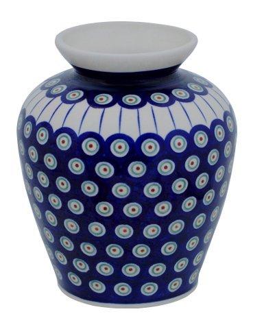 Original Bunzlauer Keramik Vase/Blumenvase, Höhe 19,7cm im Dekor 8