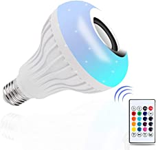 DGRENA LED Music Bulb with Bluetooth Speaker,E27,12W RGB Colorful Color Conversion lamp, Wireless Stereo Sound, 24 - Key Remote Control Switch,Color Remote Control for Party,Manufacturing Atmosphere