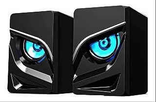 Caixa Caixinha Som Rgb 6w Usb P2 Pc Notebook Pc Gamer