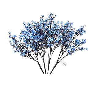 MEHELANY Artificial Baby Breath Flowers, 4 Pack Fake Gypsophila Bouquets, Total 20 Green Branch 400 Baby Breath Flowers Heads for Home, Wedding, Party Decoration